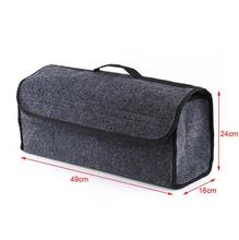 Car Trunk Organizer Soft Felt Storage Box Large Anti Slip Compartment Boot Storage Organizer Tool Bag Car Storage Bag