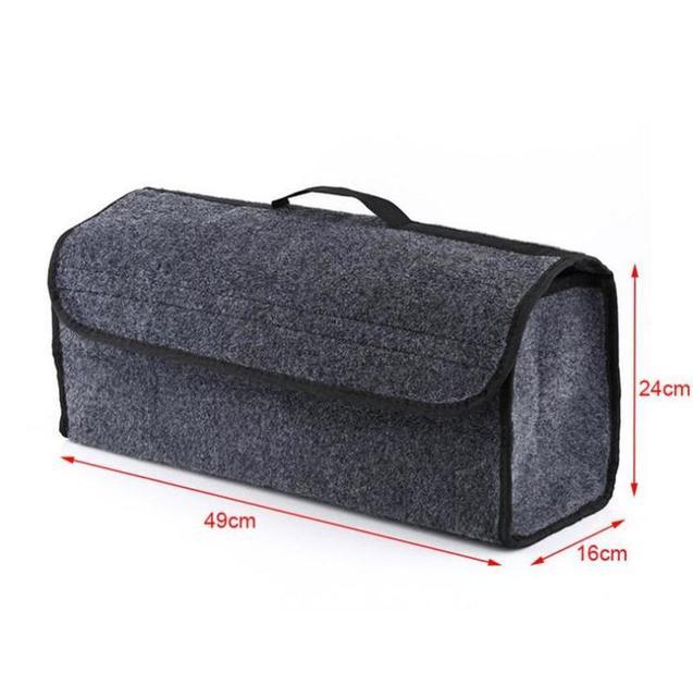 Car Trunk Organizer Soft Felt Storage Box Large Anti Slip Compartment Boot Storage Organizer Tool Bag Car Storage Bag