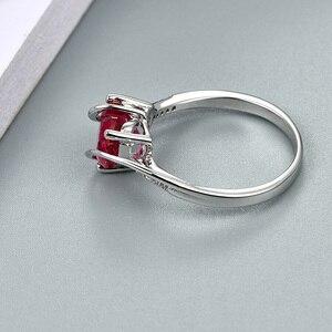 Image 5 - A Forma di cuore Rubino 925 Sterling Silver Anello di 2.5 Carati Donne Anello di Amore per il Partito di Fidanzamento e di Nozze Regalo Romantico