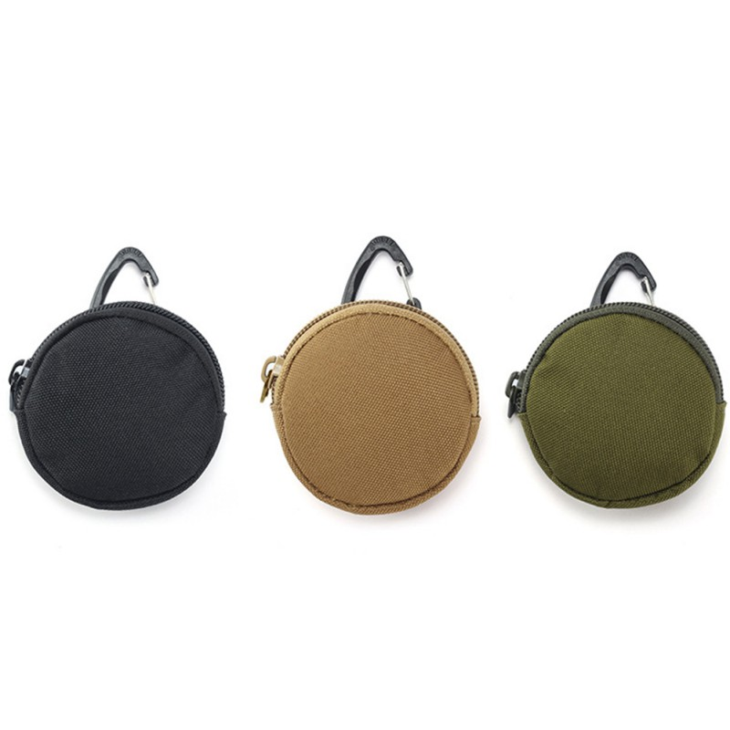Tactical Portable Storage Bag Army Fans Outdoor Camping Keychain Holder Case Waist Pack Purse Wallet Pouch Bag Carabiner Clips