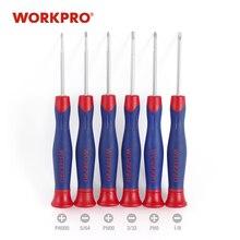 WORKPRO-Juego de destornilladores de precisión Mini, herramientas para el hogar multifunción para SmartPhone, cámara PSP, tabletas, reparación, 6 uds.