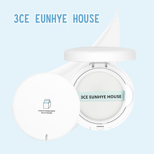 3CE Eunhye House White Milk Cushion Face Skin Air Cushion BB Cream Makeup Set Foundation Moisturizing Sun protection Concealer