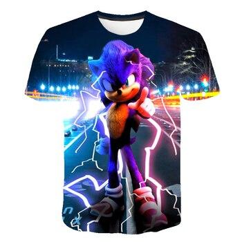 Sonic the Hedgehog Boys T Shirt Kids Cartoon Tshirt Blue T-Shirts for Girls Child T-Shirts Children Clothing 2020 Tee Tops
