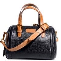 women Handbag Genuine Cowhide Leather Shoulder Crossbody Retro Portfolio Vintage Women Bags Original Casual famale bag Gift