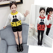 Kids Sweater for Girl Baby Insect Sweater 2019 Girls Sweaters Autumn New Knitted Kids Clothing Girls Pullover Wool Knitwear 4-11