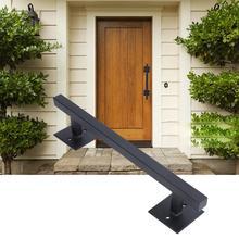 Puerta corredera de granero de Metal tirador de muebles Vintage manija de garaje armario tiradores de armario tirador negro piezas de herrajes para muebles