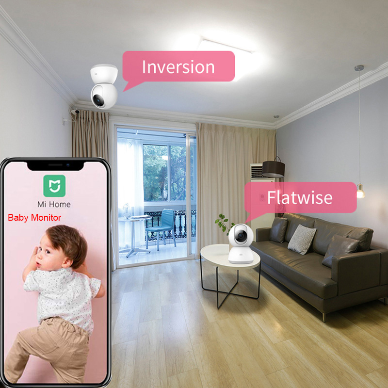 Version mise à jour 2019 Xiaomi IMI caméra intelligente Webcam 1080P WiFi panoramique Vision nocturne 360 Angle caméra vidéo vue bébé moniteur - 3