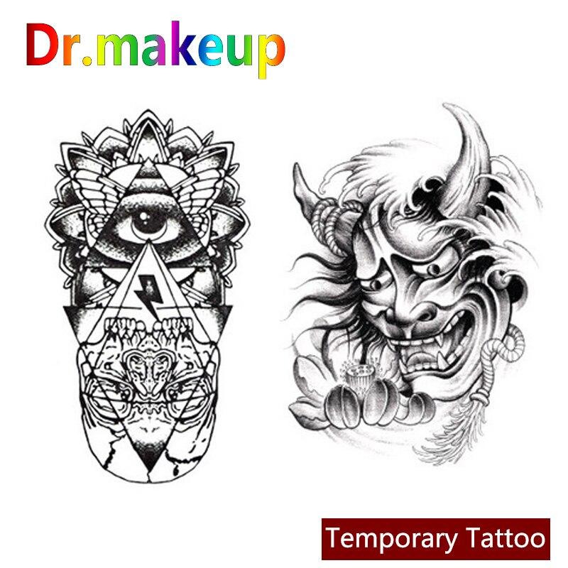 Dr.makeup New Waterproof Animal Eye Clock Bird Fake Tattoo Sticker Body Art Painting Makeup Temporary Tattoo For Men And Women