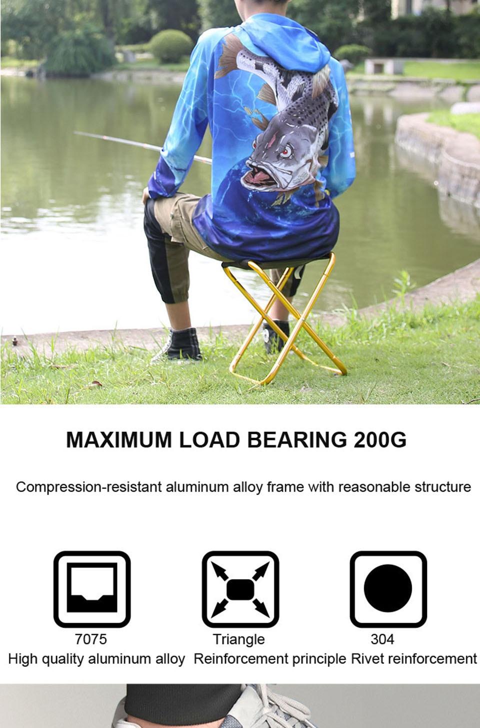 2 modelos dobrável cadeira de pesca leve