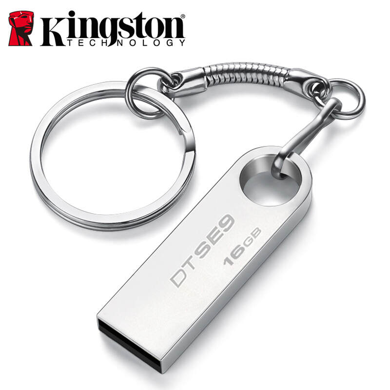 Kingston USB Flash Drive 16GB USB 2.0 Pen Drive Metal PenDrives DTSE9H Memory Stick Memoria U Stick