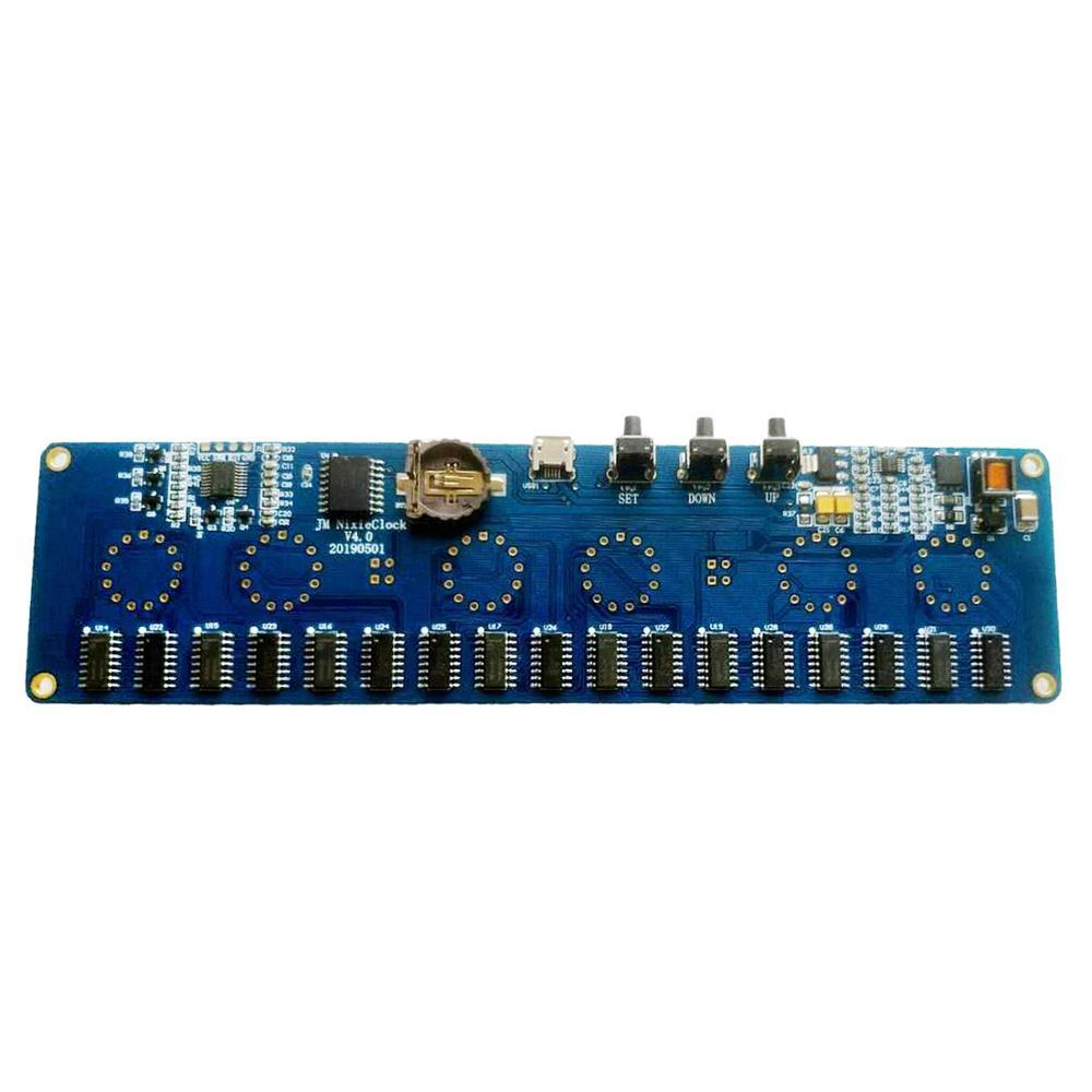 DIY In14 In4 Nixie Tube Digital LED Clock Gift Circuit Board Kit PCBA, No Tubes