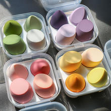 4 Pcs New Beauty Make-up Egg Soft Beauty Make-up Egg Water Drop Puff  Sponge Super Soft Air Cushion Puff Dry and Wet Two Ways
