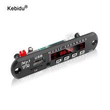 Kebidu 6v 9v 12v mp3 decodificador placa módulo remoto aux 3.5mm tf fm rádio áudio mp3 player usb para carro remoto música alto falante
