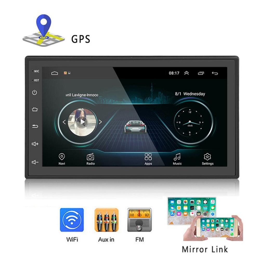 2 Din für Android radio 7 zoll GPS Navigation Voice Control MP5 Audio PC Tisch Auto Multimedia Player Rück Backup