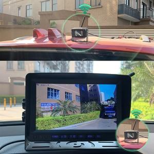 Image 5 - 2020 업데이트 디지털 무선 백업 DVR 기록 카메라 및 트럭/트레일러/버스/RV/픽업/트레일러 용 4CH 9 인치 AHD 모니터 키트