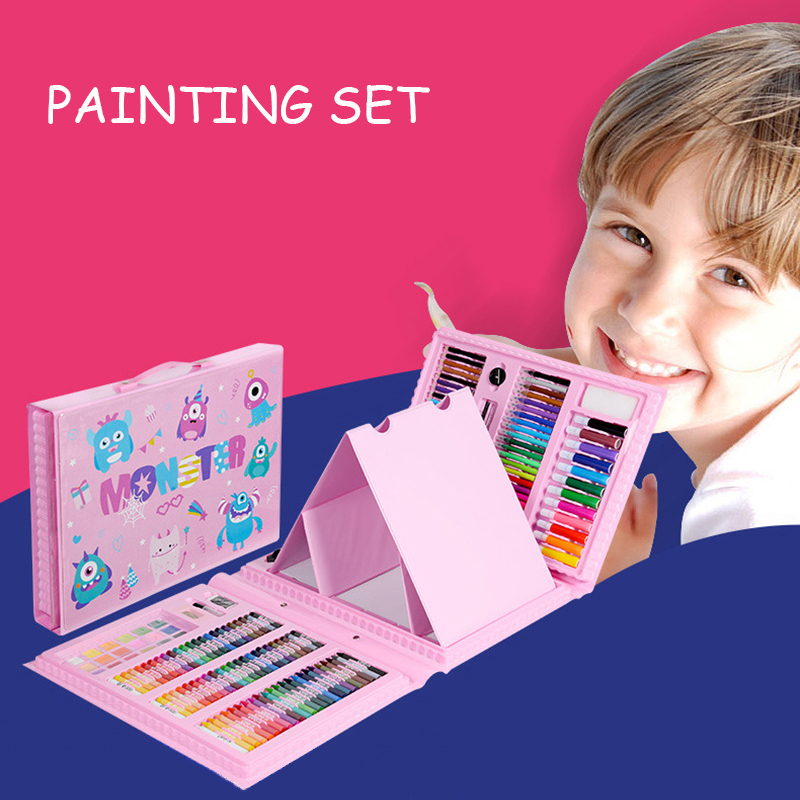 288PCS Kids Gift Watercolor Drawing Art Marker Brush Pen Set Children Painting Art Set For Kids Gift Office Stationery Supplies