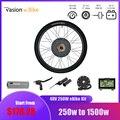 Pasion Ebike комплект для переоборудования электрического велосипеда 48 в 1000 Вт 1500 Вт заднее моторное колесо 36 в 250 Вт 500 Вт переднее моторное колес...