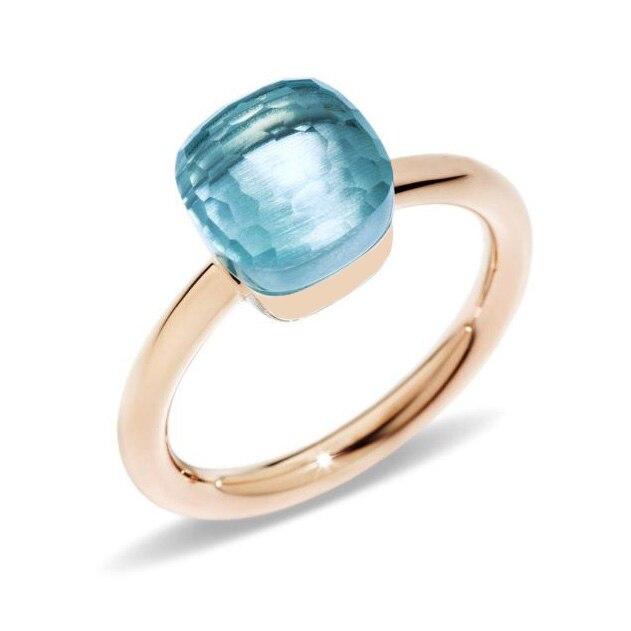 Clássico gotas de água doce estilo anel 23 tipos de cor verde vermelho azul cristal gota anéis para a moda feminina jóias (dj1120)