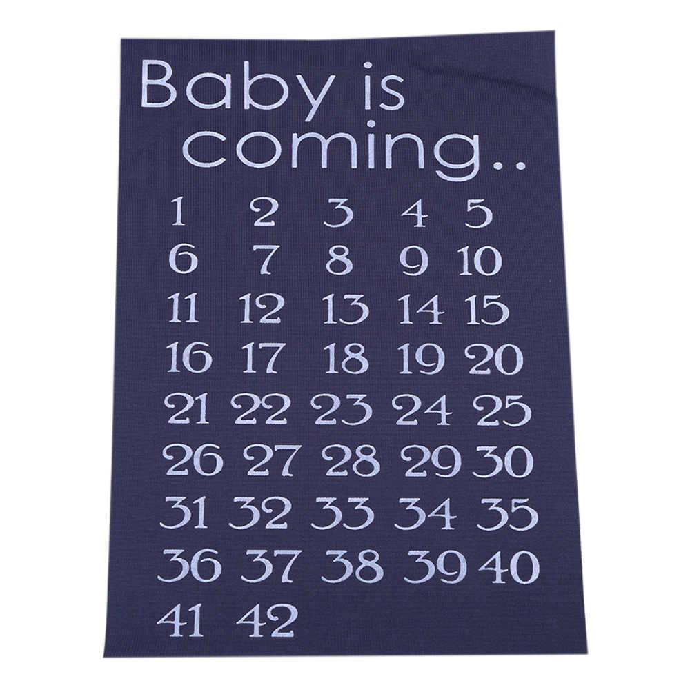 Stickers Moederschap Tees Baby Komende Patroon Zwangere Kalender Countdown Zwangerschap Baby Geboorte Countdown 42 Weken Doek Accessoire