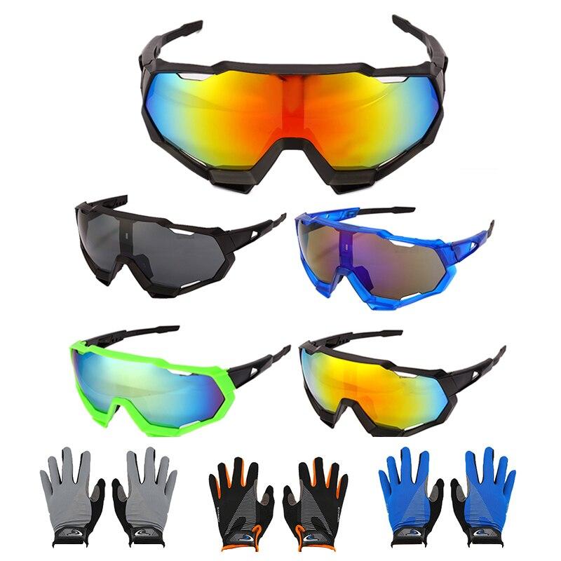 Sports Eyewear Goggles UV400 Sunglasses Cycling Glasses Sport Cool Mountain Biking Cycling Sunglasses Sports Eyewear with Gloves