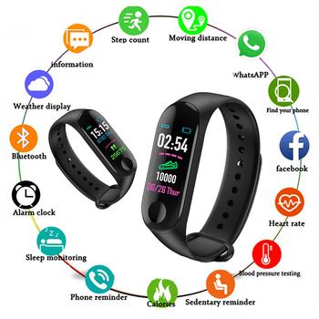 M3 Plus męski inteligentny zegarek kolorowy ekran IP67 wodoodporny inteligentny zegarek ciśnienie krwi aktywność serca opaska monitorująca aktywność fizyczną zegarek męski tanie i dobre opinie Spektata Brak Na nadgarstek Zgodna ze wszystkimi 128 MB Krokomierz Rejestrator aktywności fizycznej Rejestrator snu