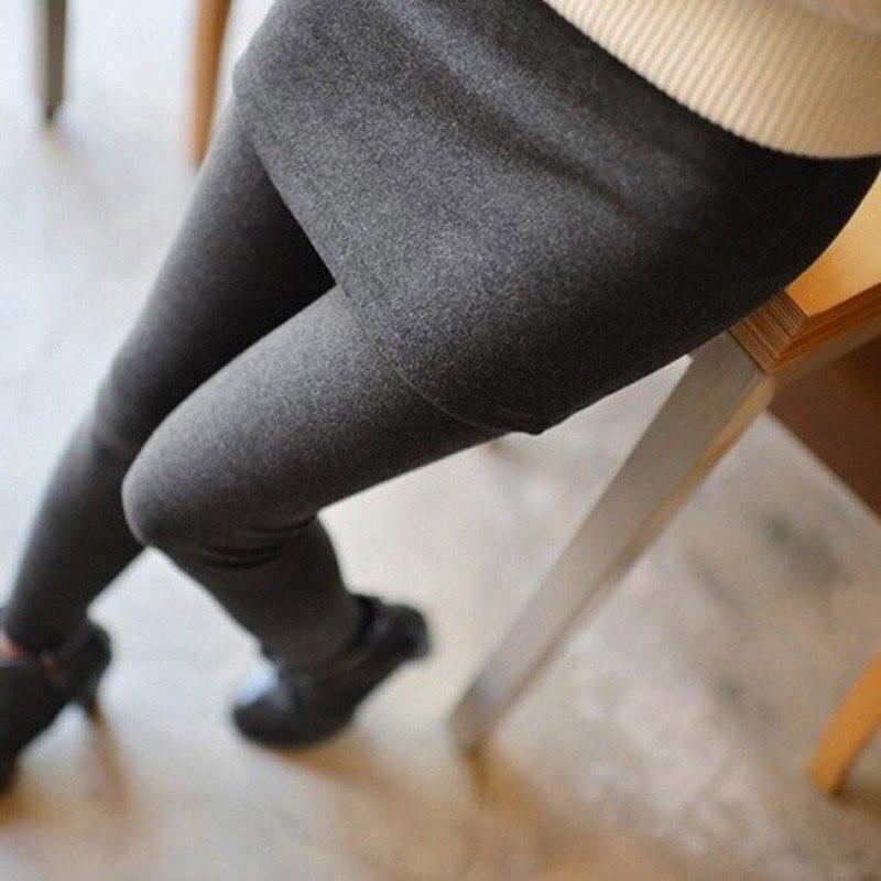 Women Autumn Winter Fake 2 Pieces Warm Leggings High Elastic Mid Waist Plus Cashmere Skirt Leggings Stretch Slim Female Leggings