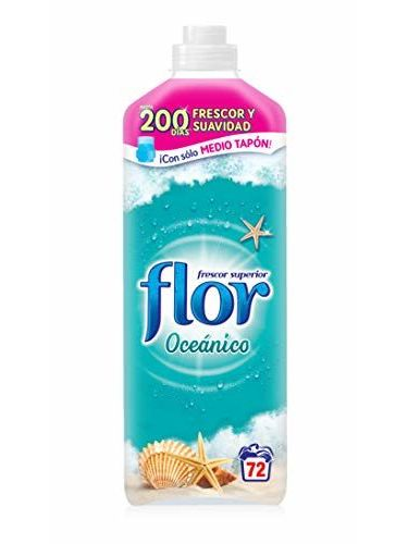 Flor Frescor Oceánico - Suavizante Concentrado Para La Ropa, 72 Dosis