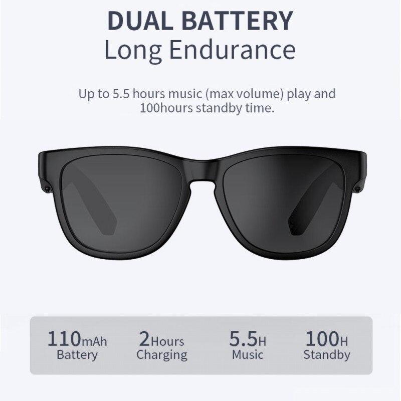 Костная проводимость Bluetooth 5,0 солнцезащитные очки с открытым ушком гарнитура поляризационные очки беспроводные очки