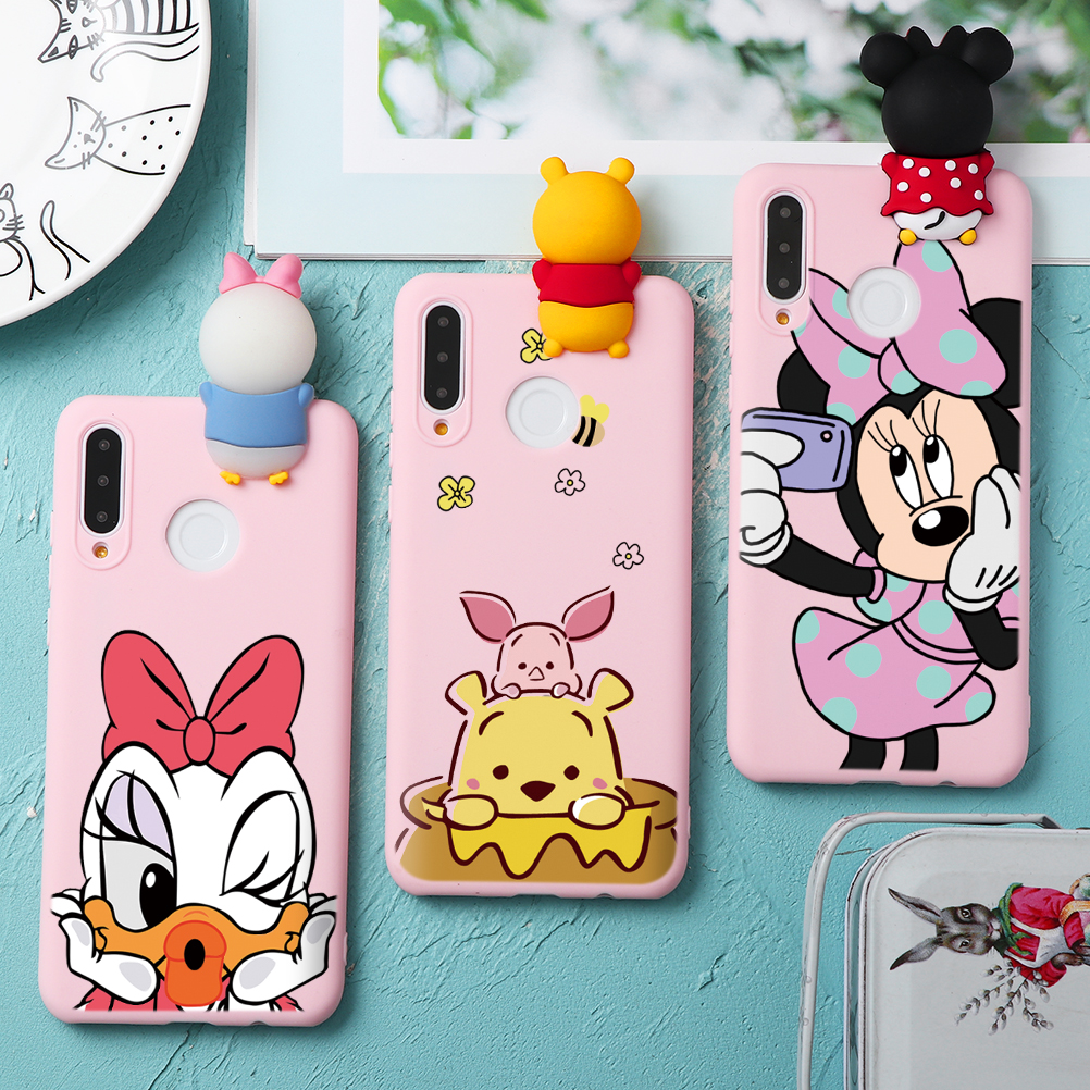 Silicon Cover For <font><b>Huawei</b></font> P40 Pro P30 P10 P20 Lite Y9 Y7 Y6 P Smart Z Plus 2019 Cartoon Doll TPU Capa Case For <font><b>Huawei</b></font> <font><b>Honor</b></font> <font><b>8X</b></font> 9X image