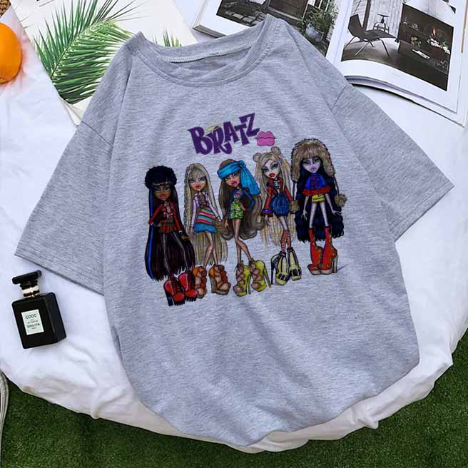 Vogue Sexy Bratz T Shirt Women Funny Y2K T Shirts Summer 2020 90s Fashion Tops Graphic Tees Female T shirts Clothes New Arrival|T-Shirts| - AliExpress
