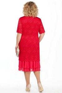 Image 3 - Vestidos de noiva plus size, vestido de mãe da noiva, 2020, longo chá, vestido de festa de casamento, meia manga, duas peças mera de mariee