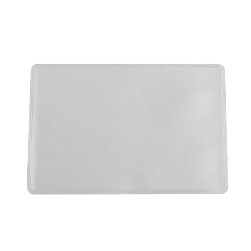 100pcs PVC Card Sleeves Cards Protector ID Badge Case Bank Credit Card Holder Accessories Photo/card /passport/passbook Case New