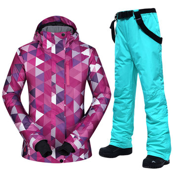 New Winter Ski Suit Women Hot Warm Waterproof Breathable Female Snow Jackets and Pants Snow Skiing and Snowboarding Suit Brands wild snow lady winter outdoor skiing jackets waterproof warmer snowboarding jackets ski suit clothes female hiking coats