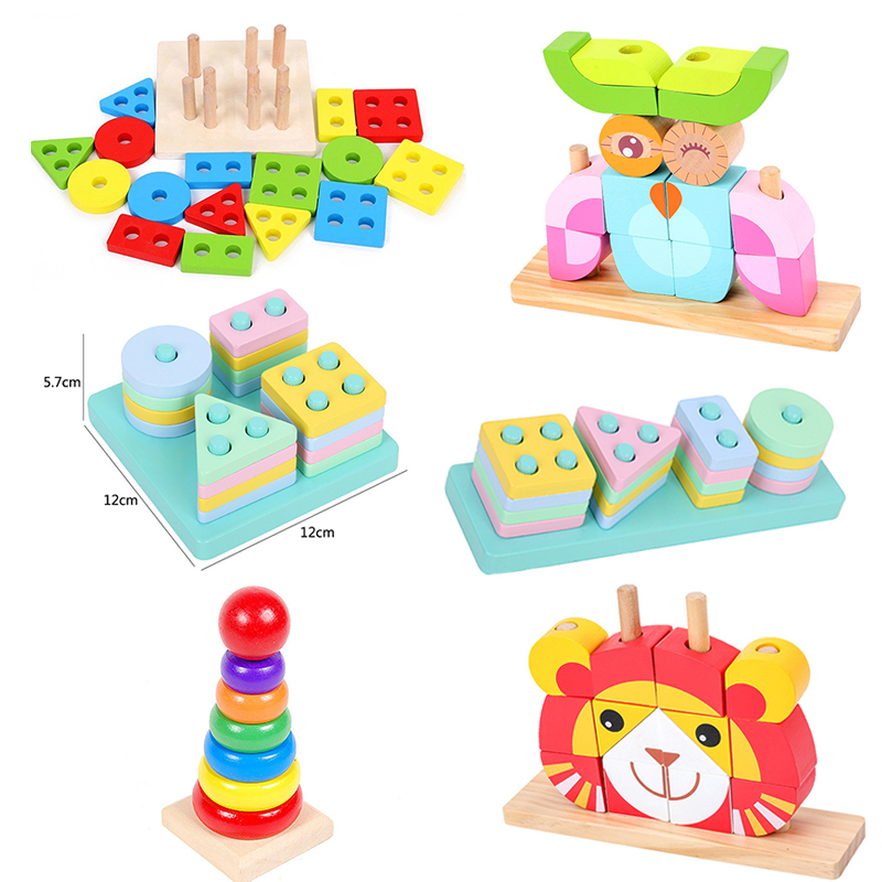 Kids Educational Toys Wooden Toys Montessori Early Learning Geometric Sorting Board  Baby Birthday Christmas Gift Toys For Child