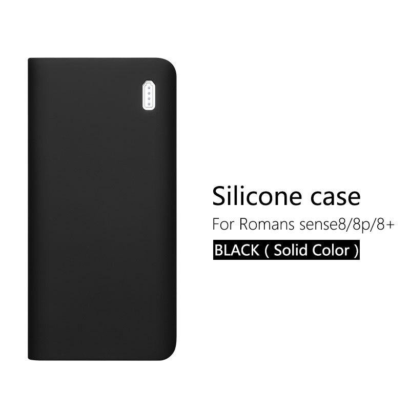 Силиконовый защитный чехол для 30000mAh Romoss sense 8/8+ мобильный мощный Мягкий Силиконовый противоударный/Противоскользящий Чехол для мобильного телефона - Цвет: Black (no word)