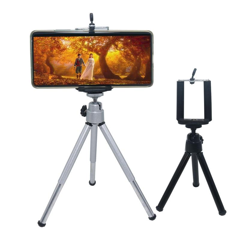 1pcs Professional Foldable Camera Tripod Holder Stand Screw 360 Degree Fluid Head Tripod Stabilizer Aluminum With Phone Holder