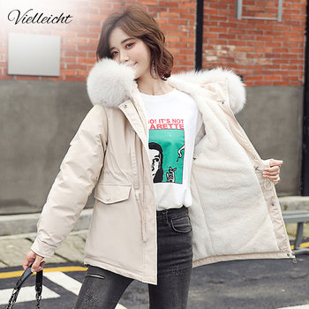 Vielleicht Winter Coat Women 2020 Fashion Winter Jacket Women Cotton Padded Parka Short Outwear Hooded 5 Colors Female Jacket maternity winter jacket women new 2018 coats female parka black thick cotton padded lining clothes pregnant woman outwear