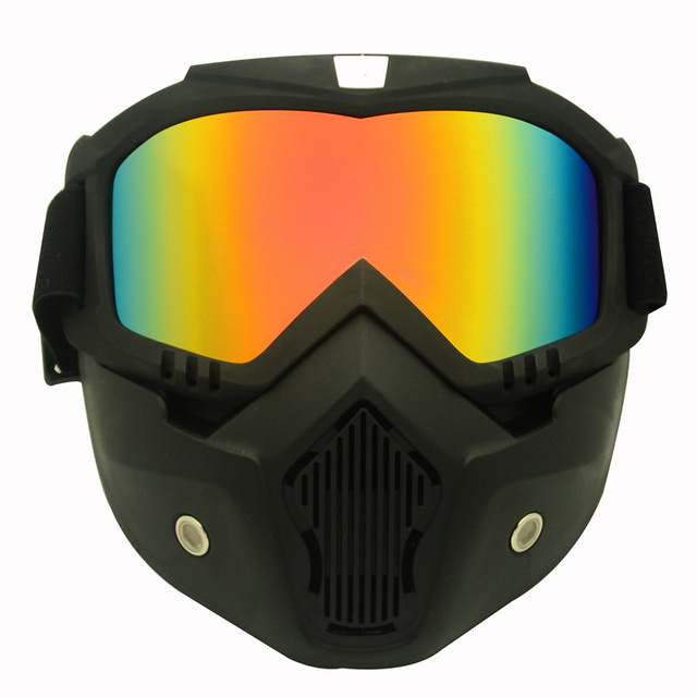 High Quality Full face shield Saliva protection Masks Anti-pollution Dust Detachable Filter Mouth Mask Goggles Respirator