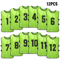 6/12 PCS Adults Soccer Pinnies Quick Drying Football Team Jerseys Sports Soccer Team Training Numbered Bibs Practice Sports Vest