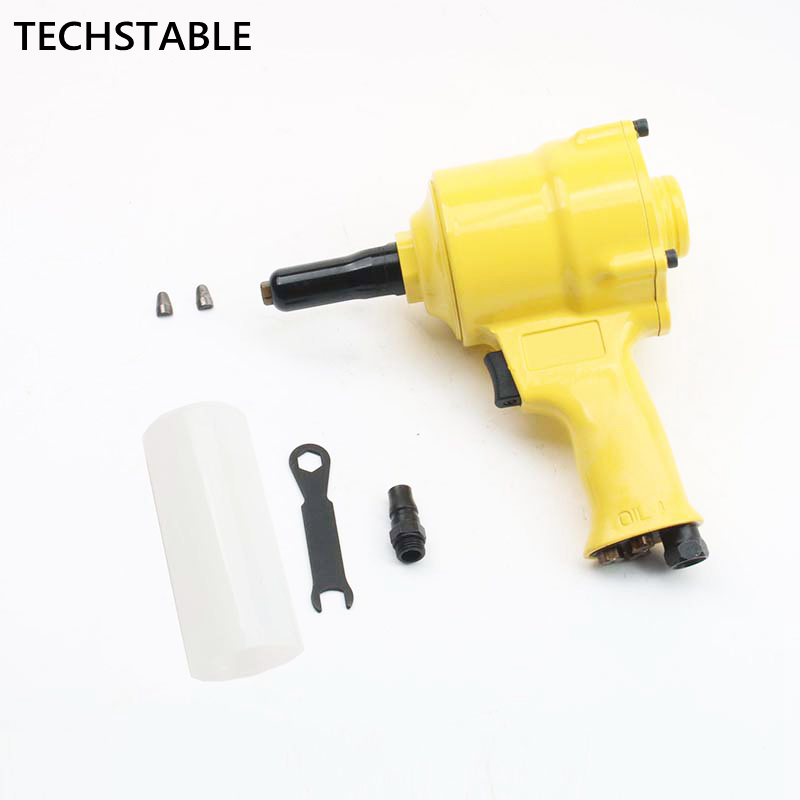 TECHSTABLE High Quality  Air Riveter Gun Pneumatic Riveters Pneumatic Rivet Gun Riveting Tool 2.4mm-4.8mm