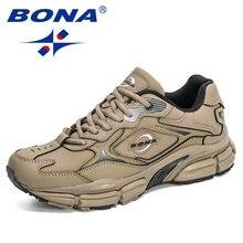BONA – Chaussures de marche pour homme, baskets en cuir, extérieur, décontracté, casual, fashion, à la mode, sport et loisirs, nouveauté 2020