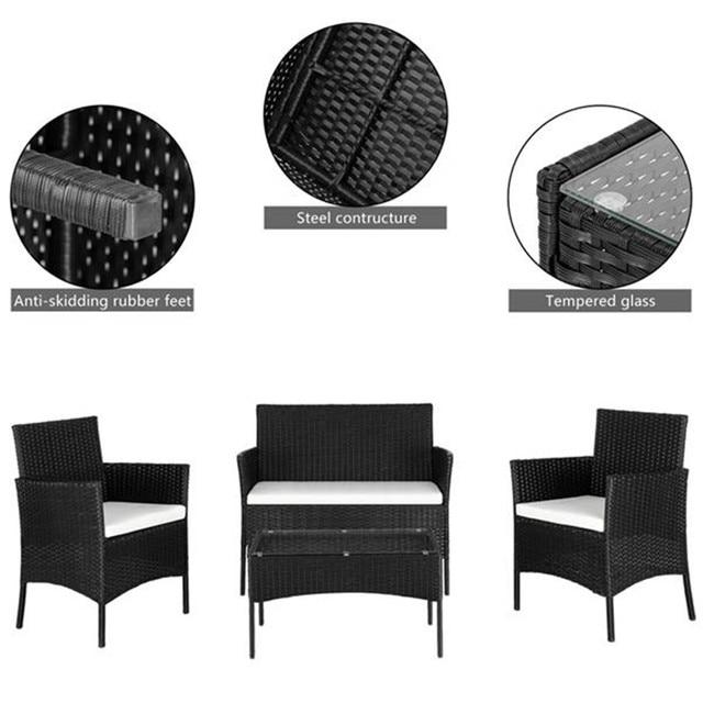 Rattan Sofa Set  w/ Table 6