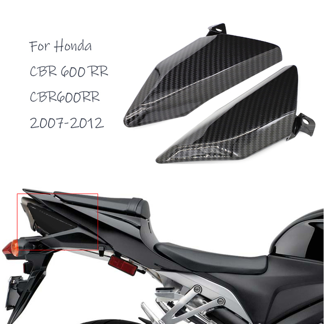 Motorcycle Rear Tail Exhaust Side Covers Panel Fairing Cowl for Honda CBR 600 RR CBR600RR 2007 2008 2009 2010 2011 2012