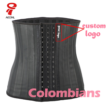 Aiconl Latex Waist Trainer Corset Belly Plus Slim Belt Body Shaper Modeling Strap Body Ficelle Waist Cincher fajas colombianas