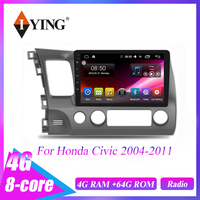 IYING For Honda Civic 2004 2011 8 core Android 9.0 Car Radio Multimedia Video Player Navigation GPS Map Central control system