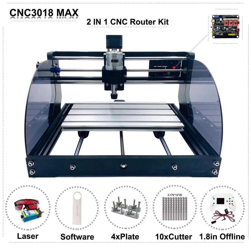 Bricolage CNC 3018 PRO MAX Mini CNC Laser routeur gravure Machine avec GRBL hors ligne contrôleur 0.5w 2.5w 5.5w 15w Module