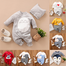 Malapina Baby Girls Boys Clothes Totoro Printed Jumpsuit Clothes Baby