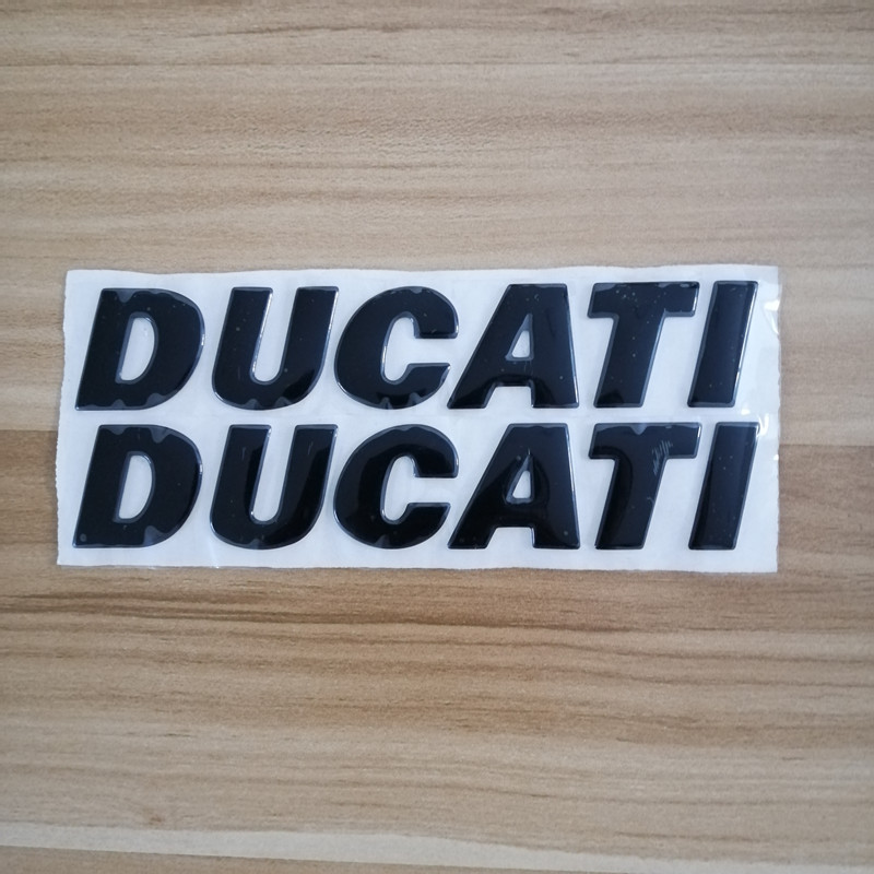 Emblems Stickers Decals 3D Black Reflective Motorcycle Logos For Ducati 1200 959A 848 EVO ABS 796 821 895