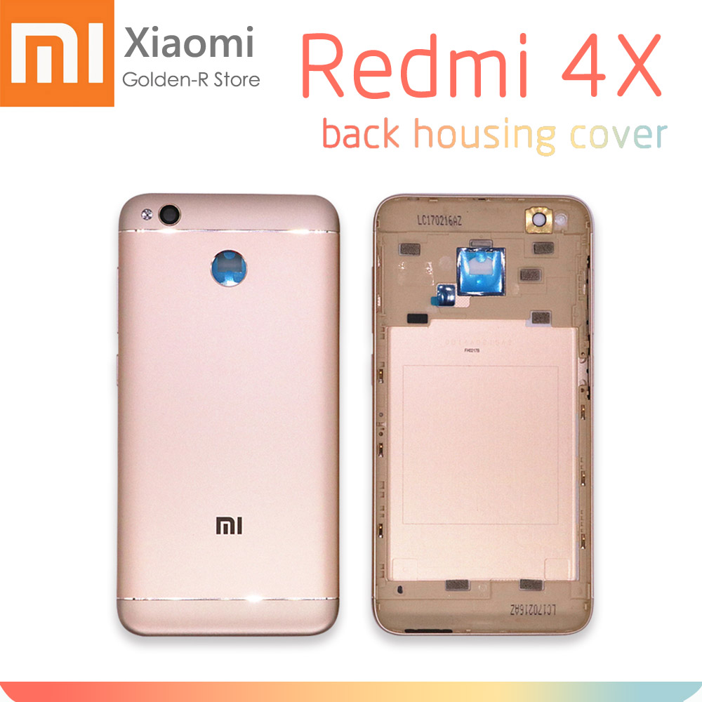 Replacement Parts For Xiaomi Redmi 4X Back Battery Cover Metal + Camera Glass+Side Keys Rear Housing Redmi 4X Battery Door Case