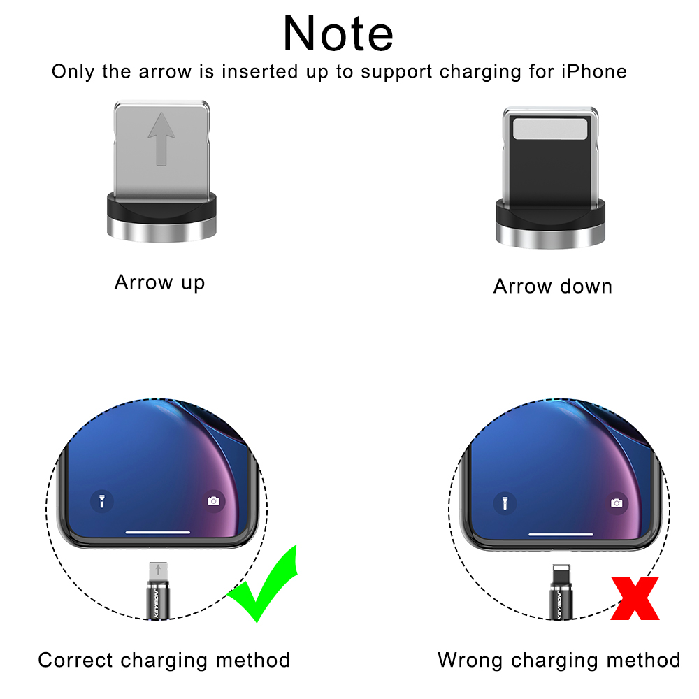 KEYSION LED Magnetic USB Cable Fast Charging Type C Cable Magnet Charger Data Charge Micro USB Cable Mobile Phone Cable USB Cord 6